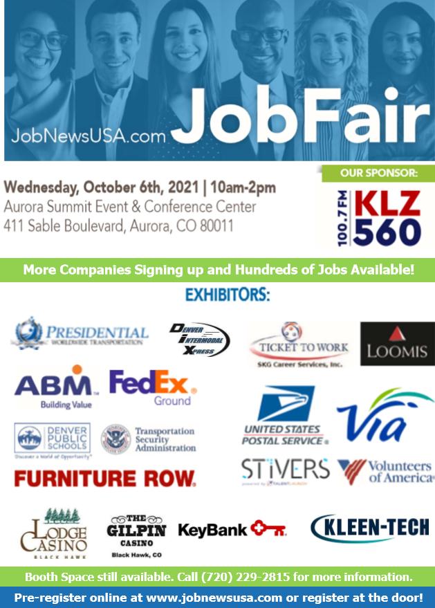 Denver Job Fair October 2021